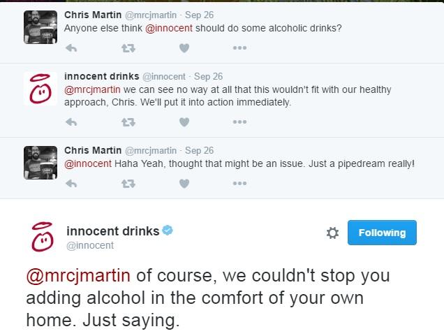 Innocent smoothies tweet complaining customer