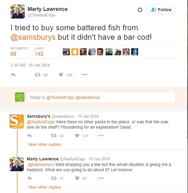 Customer complains to Sainsbury's on social media