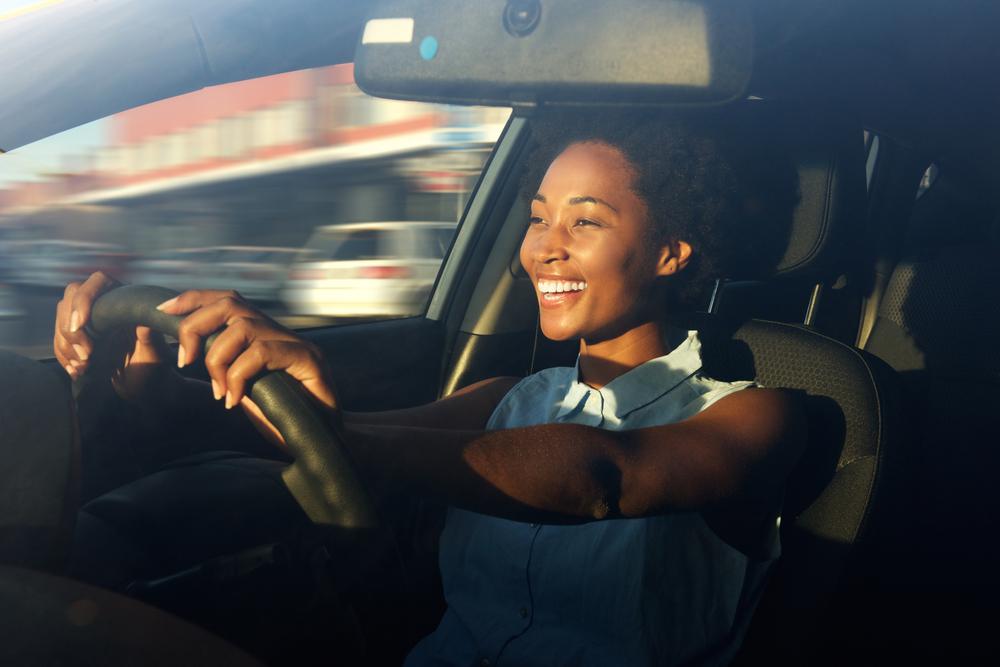 female car driver