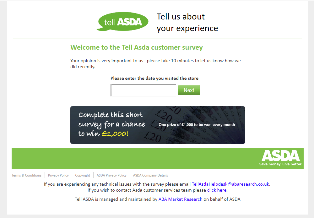 Asda customer survey