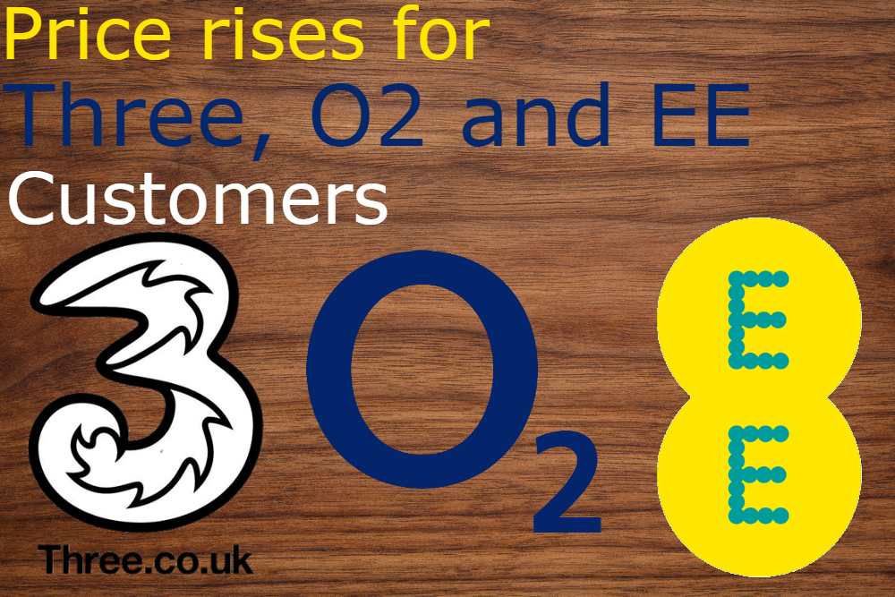 price rises for three o2 and ee customers